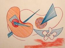 Micheline, Pastels secs sur papier, 2013 H