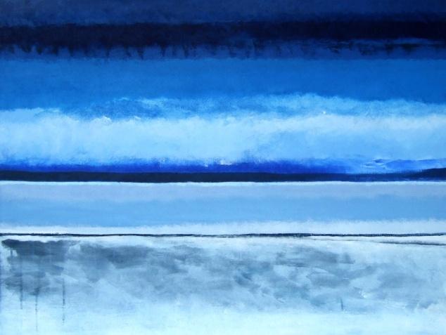 Horizon d'hiver, Acrylique sur toile, 2014