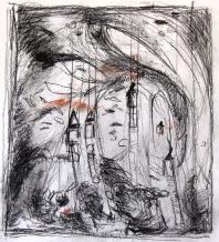 J.-F. Crayons et fusains sur papier, 2015