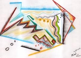 Micheline, Crayons sur papier, 2013