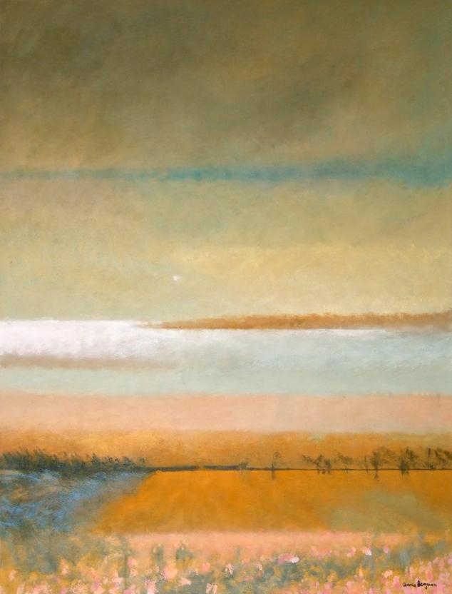 Les horizons : L'automne, Acrylique sur toile, 40 x 30 po, 2014
