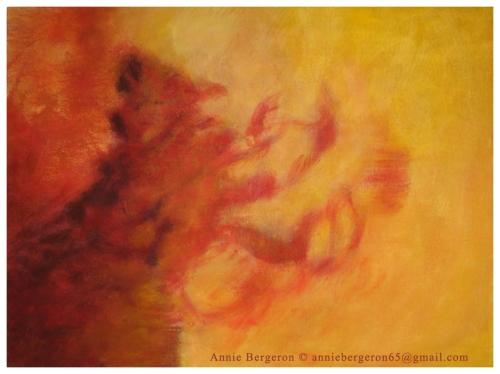 Entre ciel et terre III, Acrylique sur toile, 30 x 40 po, 2004.