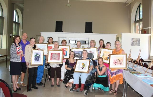 Vernissage des Pinceaux d'Or, juin 2017