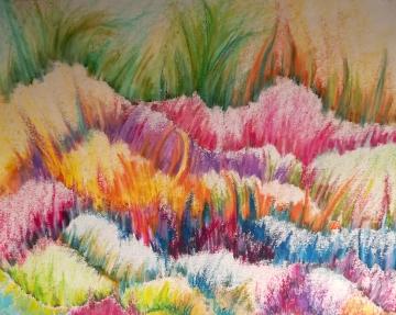Anouk, pastels à l'huile sur papier, 2018