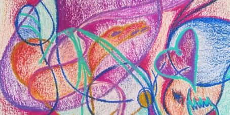 Anouk, pastels à l'huile sur papier, 2019 (Détail)